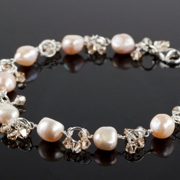 Charmed Life - Pink Pearl Charm Bracelet
