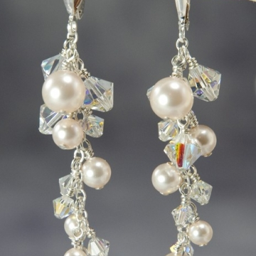 Bliss Bridal - Cluster Earrings
