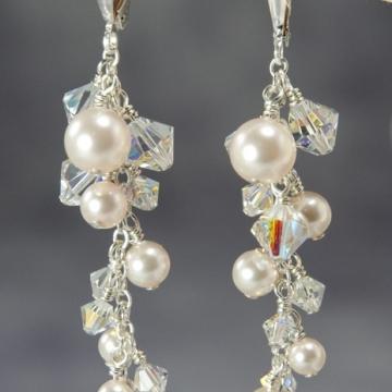 Bliss Bridal - Cluster Earrings